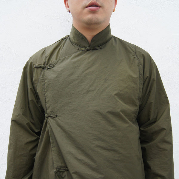 Water Repellent CheongSam in Army Green