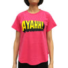 'Ayahh' Ladies T-shirt, Coral