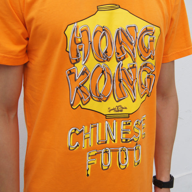 'Chinatown Neon Sign' tee (apricot)