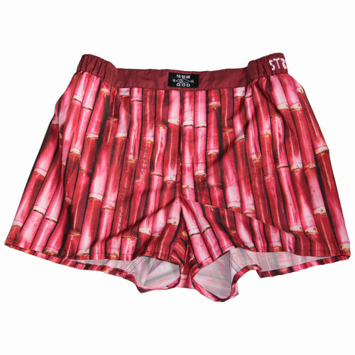'Bamboo' men's boxer shorts (red)