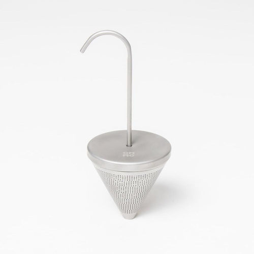 OMMO Buoy cone tea infuser (matte steel)
