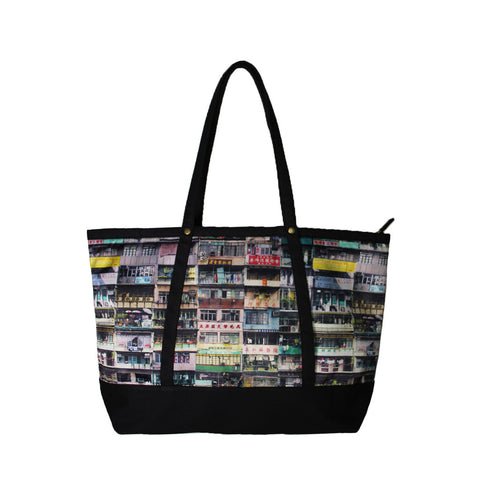 'Yaumati' tote bag with black trim