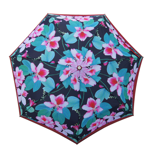'Bauhinia Black' Teflon auto umbrella