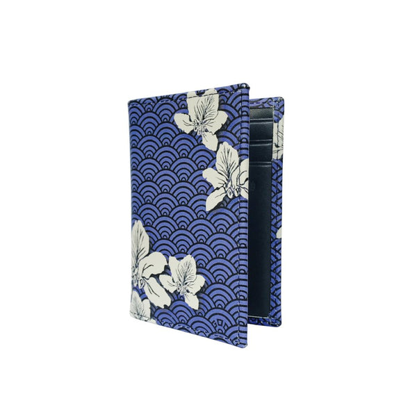 'Bauhinia Waves' Leather Cardholder
