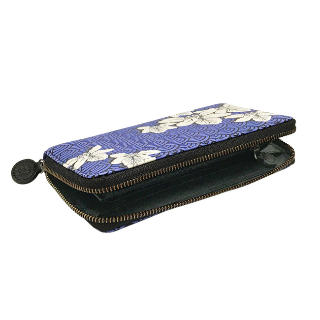 'Bauhinia Waves' Leather Wallet