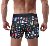 'Hong Kong Favourite Things' Black Boxer Brief, Underwear, Goods of Desire, Goods of Desire