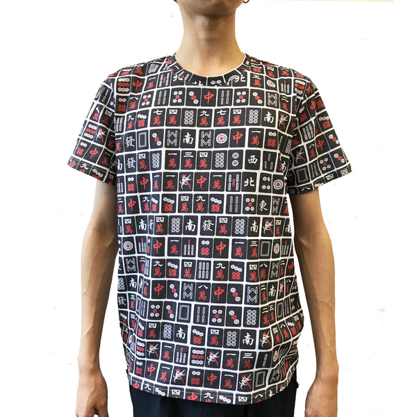 'Black Mahjong' T-shirt, Black