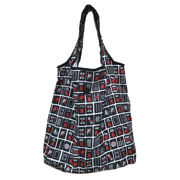 'Black Mahjong' Foldable Shopping Bag