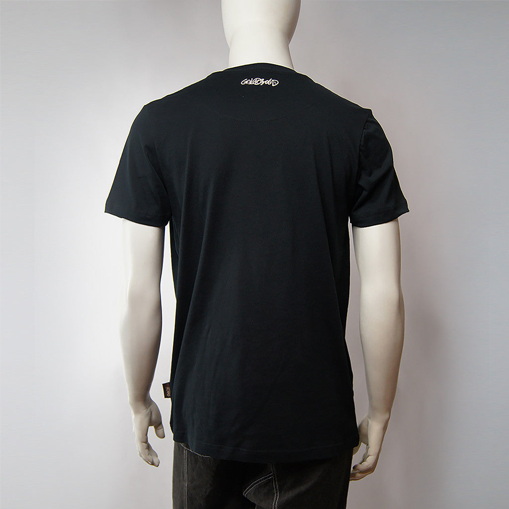 'Chinese Button' print tee (black), T-shirt, Goods of Desire, Goods of Desire