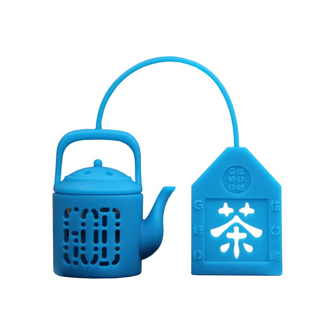 'Mini Teapot' tea infuser (ocean blue)