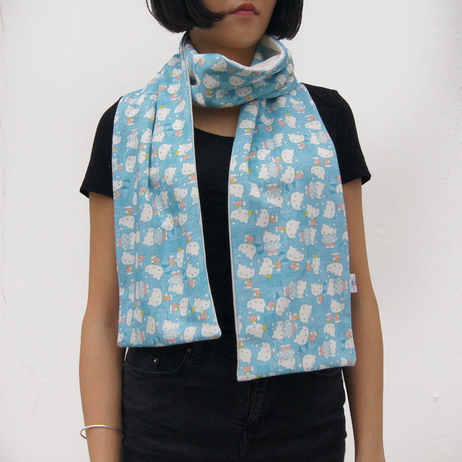 8097d6e3b 'Hello Kitty x G.O.D. Hong Kong Playtime' Cotton Scarf in Baby Blue