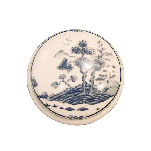 'Chinese Garden' Hand Painted Round Box