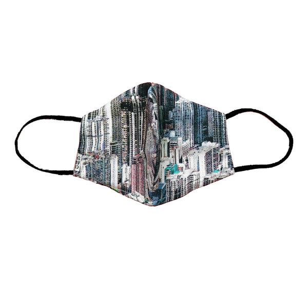 'Buildings' Snouted Mask with Holder