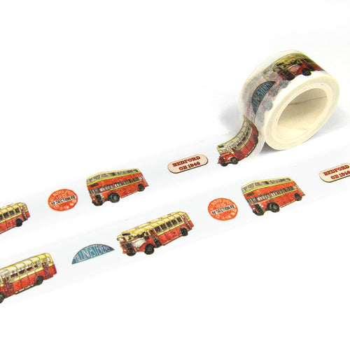 ZiGaauDaai decorative masking tape (Bus Multi Colour)