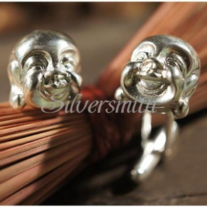 Laughing Buddha Cufflinks by Silversmith