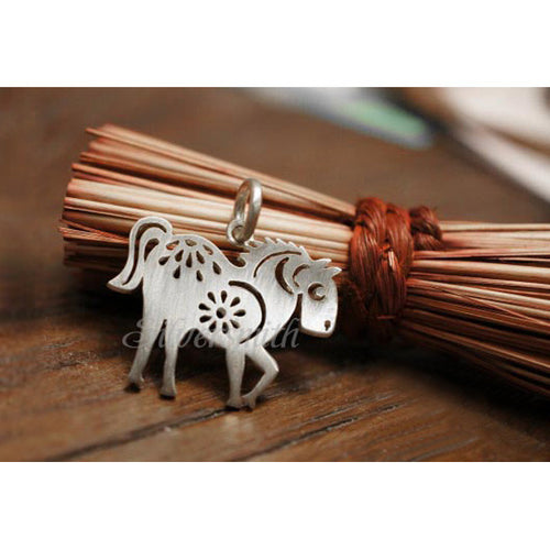 Chinese Zodiac Horse Charm by Silversmith