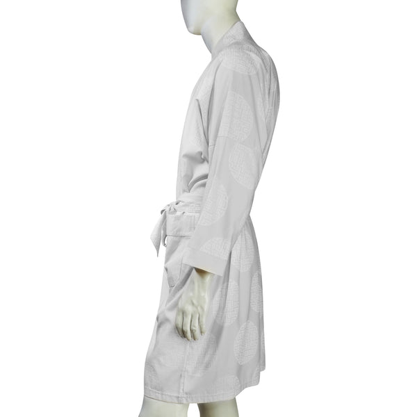 Chinese Brocade dressing gown (white)