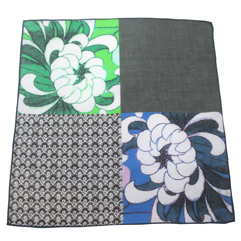 'Chrysanthemum' cotton pocket square