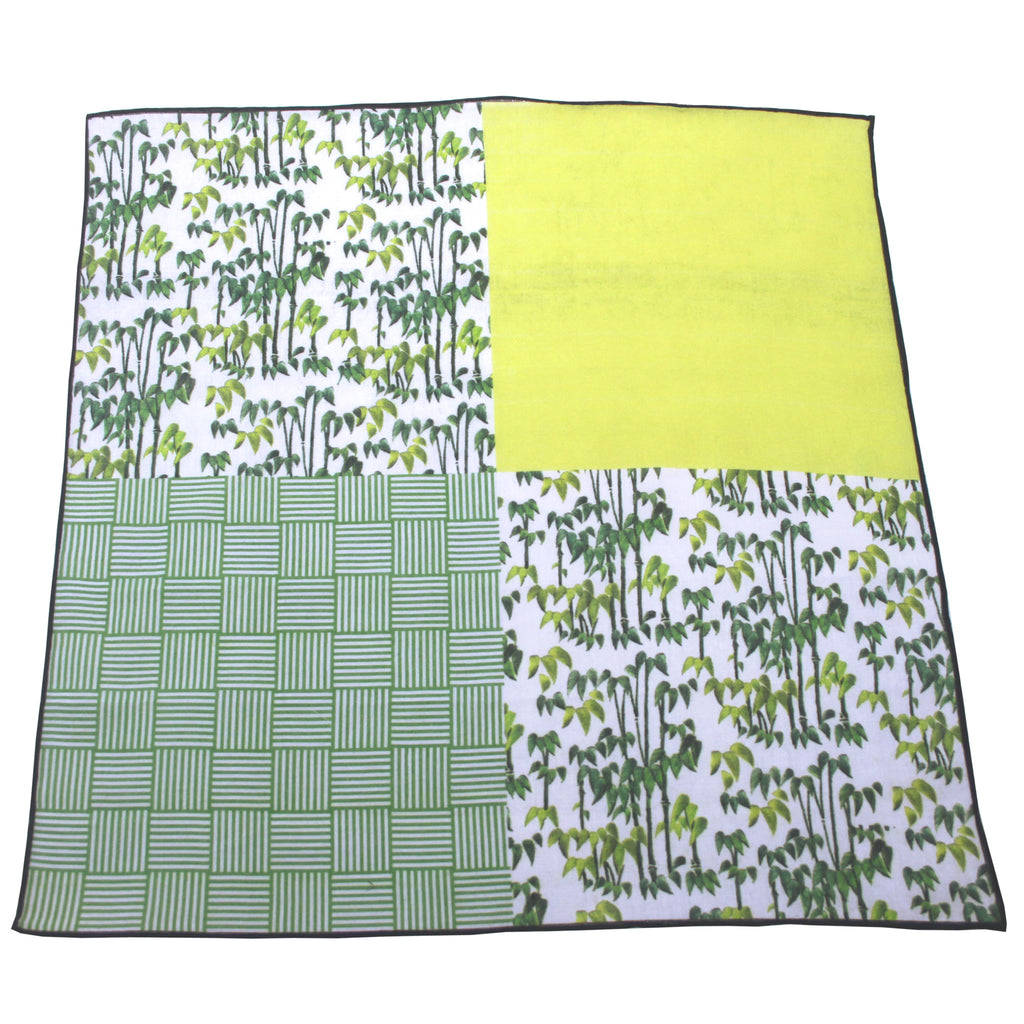 'Bamboo' cotton pocket square