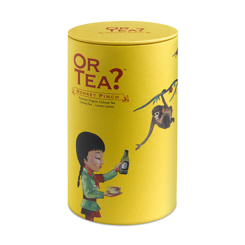 OR TEA Canister Monkey Pinch