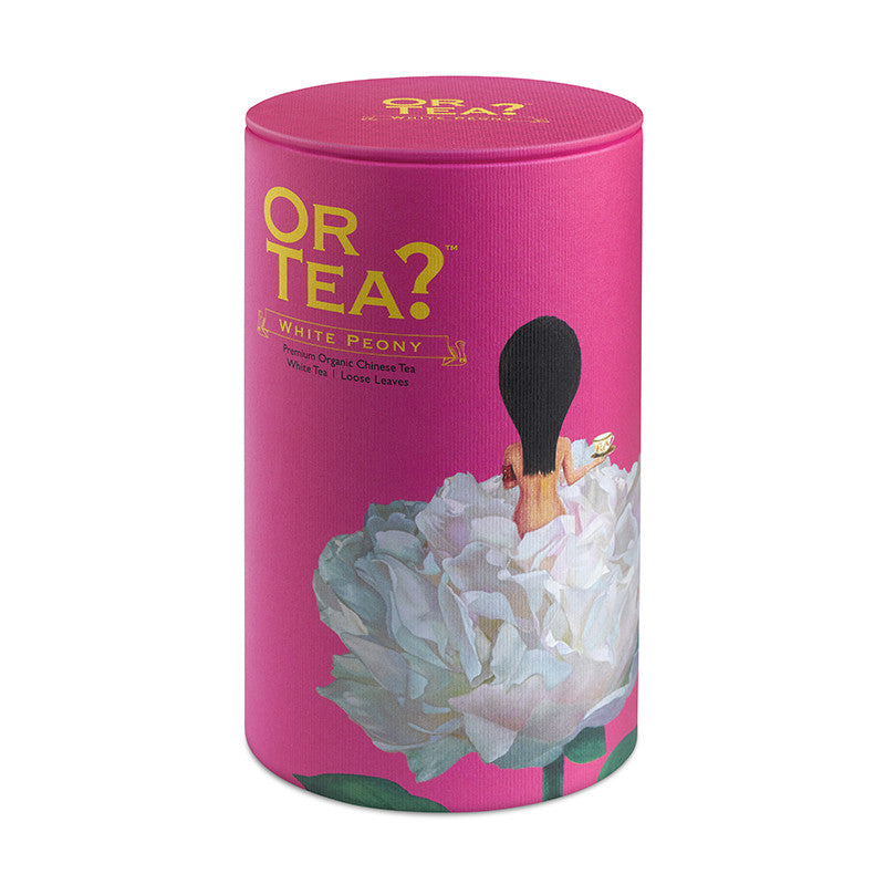 OR TEA Canister White Peony