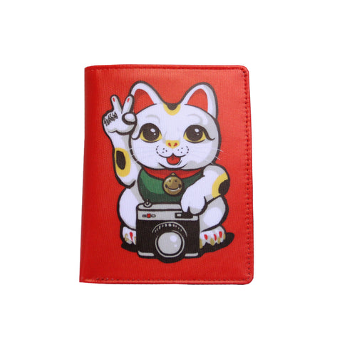 'Lucky Cat' passport holder