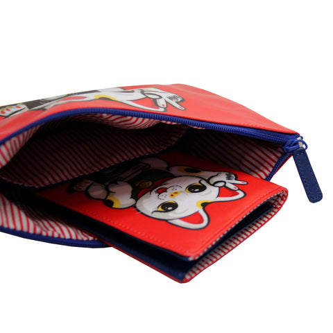 'Lucky Cat' travel pouch