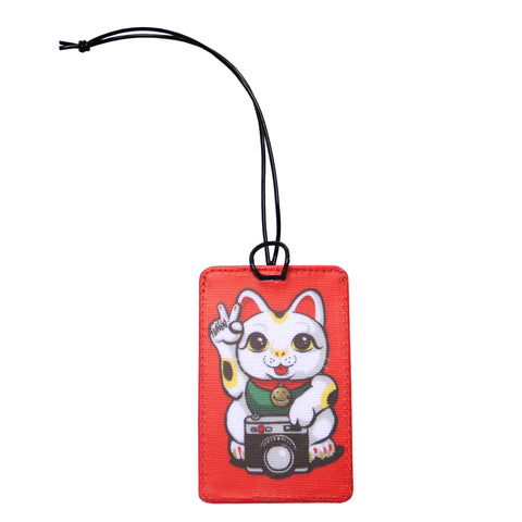 'Lucky Cat' luggage tag