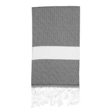Sultan Turkish Towel, Charcoal Cloud