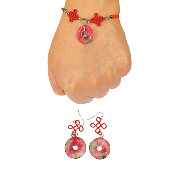 Round Bracelet and Earrings