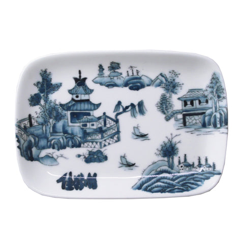 'Chinese Garden' handpainted soap dish - Goods of Desire