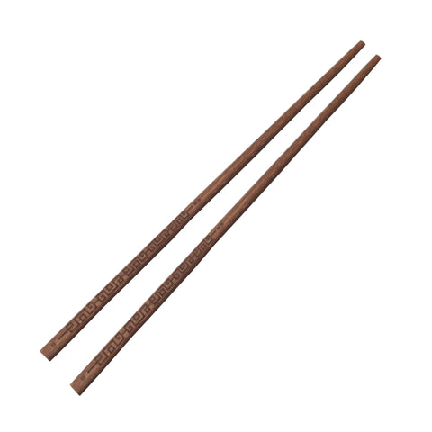 'Chinese Key' patterned chopsticks in Wenge Wood