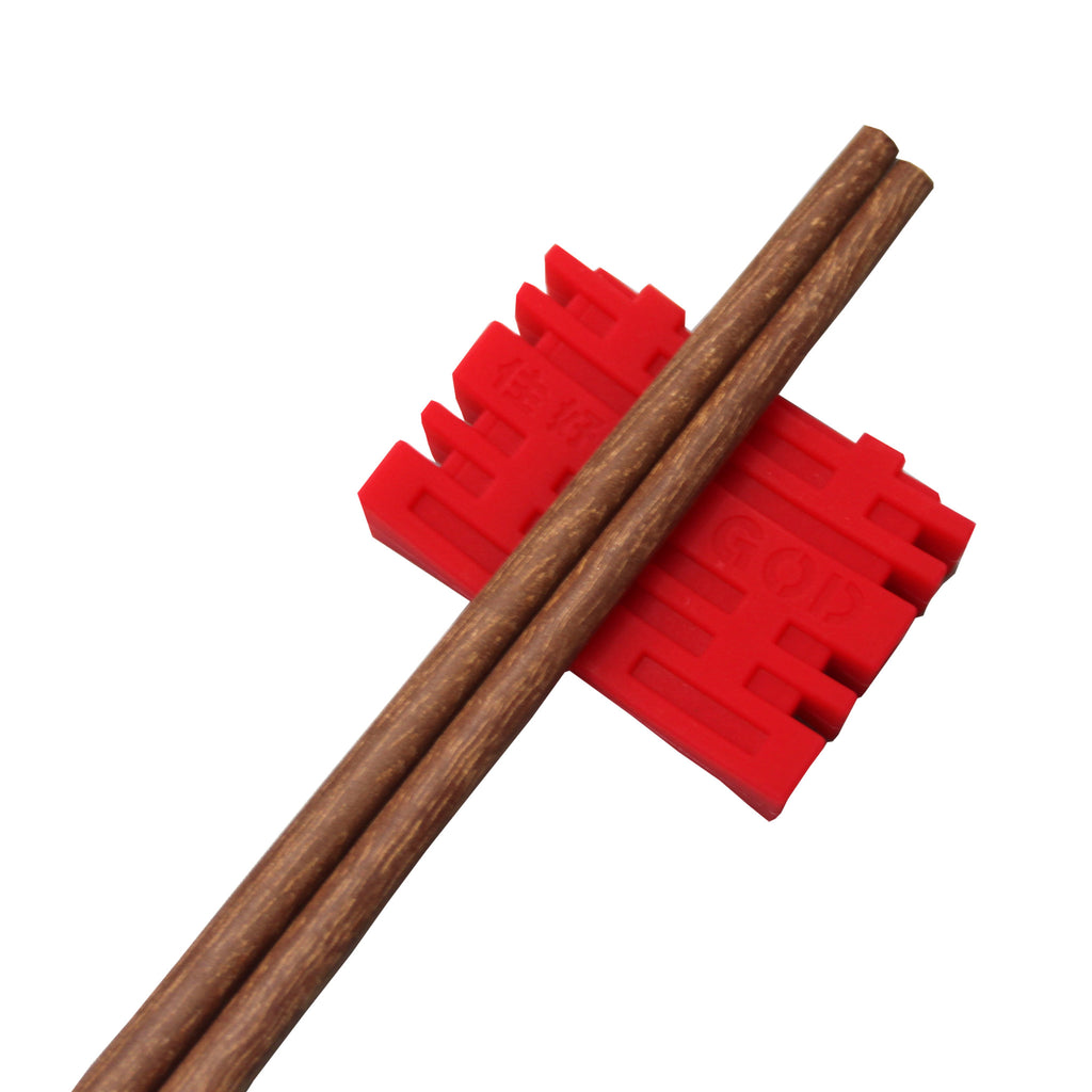'Chinese Key' patterned chopsticks in Wenge Wood (set of 6)