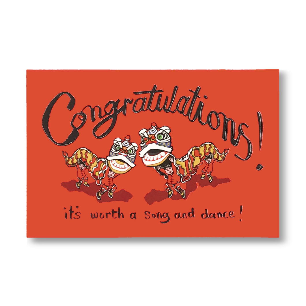 'Congratulations! It's worth a song and dance!' Card