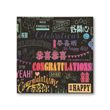 'Many Congratulations' Card
