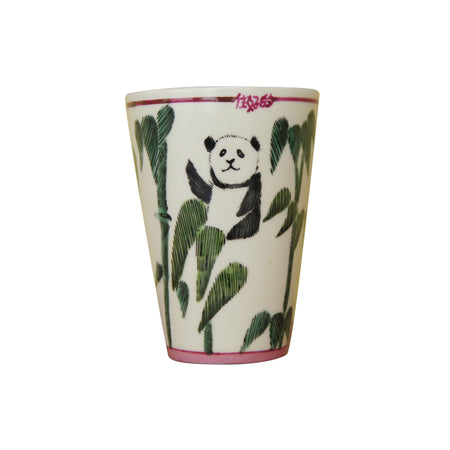 'Lion Dance' handpainted tumbler