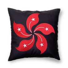 Load image into Gallery viewer, HK BAUHINIA Cushion Cover 45x45cm, Black