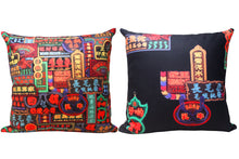Load image into Gallery viewer, 'Nathan Road' double sided cushion cover (45 x 45 cm)