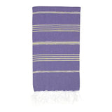 Classic Turkish Towel, Golden Purple