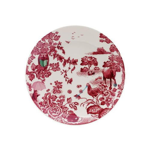 A Curious Toile Salad Plate by Loveramics, 21 cm