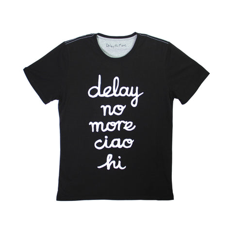 'Delay No More Ciao Hai' tee (black)