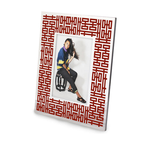 'Double Happiness' photo frame (red)