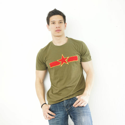 'Chinese Air Force' T-Shirt (Green) - Goods of Desire