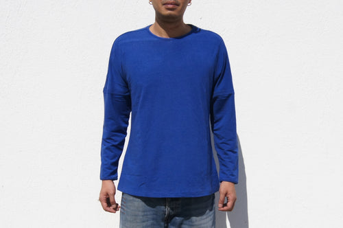 Long sleeves pullover tee (Royal Blue)