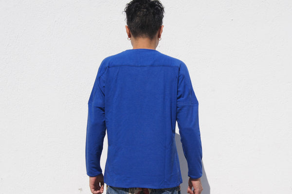 Long sleeves pullover tee, Royal Blue