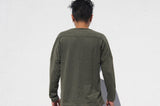 Long sleeves pullover tee, Army Green