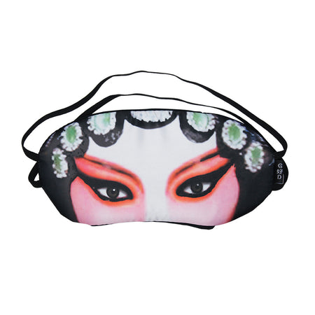 Abstract Red Lantern Pleated Mask with Holder