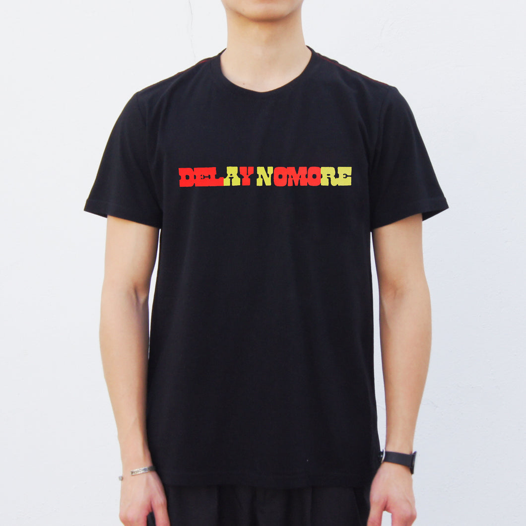 'Delay No More' T-shirt, Black