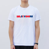 'Delay No More' T-shirt, White