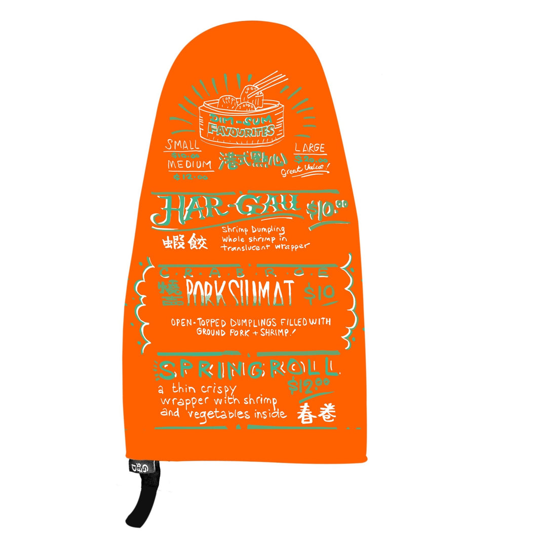 Dim Sum Menu Oven Mitt, Orange